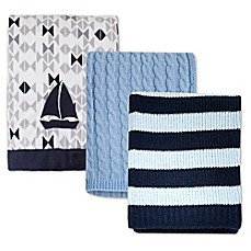 image of Nautica Kids® Mix & Match Nautical Blankets in Blue/Grey