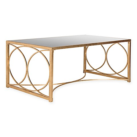 Safavieh Melosa Coffee Table In Antique Gold Bed Bath Beyond