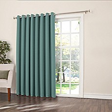 Sun Zero Bella 84 Inch Room Darkening Extra Wide Grommet Patio Door Panel
