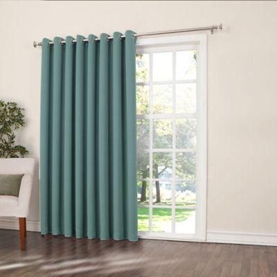 Sun Zero Bella 84 Inch Room Darkening Extra Wide Grommet Patio Door Panel