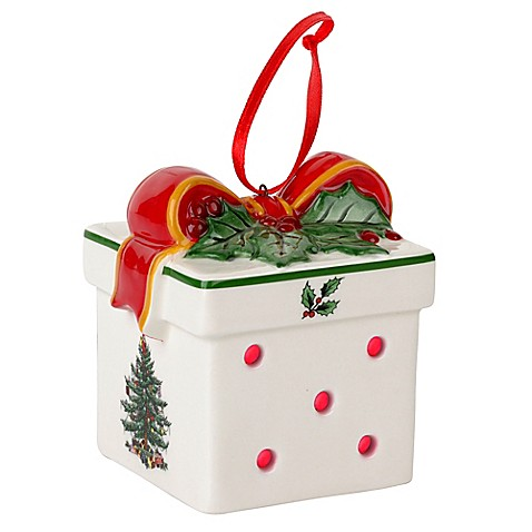 Buy Spode® Christmas Tree LED Gift Box Ornament from Bed ...