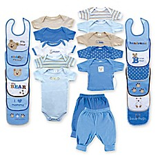 image of BabyVision® Luvable Friends Size 0-3M Deluxe 24-Piece Gift Cube Layette Set in Blue