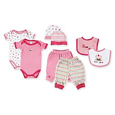 image of Baby Vision® Luvable Friends 8-Piece Deluxe Layette Gift Set in Pink