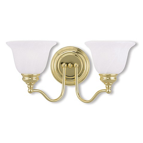 Buy Livex Essex Bath 2 Light Bath Fixture In Polished Brass From Bed Bath Beyond