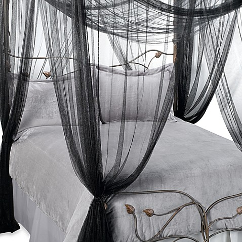 image of Majesty Bed Canopy in Black & Bed Canopies u0026 Mosquito Nets - Bed Bath u0026 Beyond