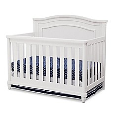 image of Simmons Kids® Barrington 4-in1 Convertible Crib in Bianca