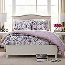 image of Watercolor Trellis Reversible Comforter Set