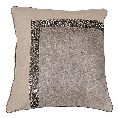 Aura Embellished Square Throw Pillow in Wheat - Bed Bath & Beyond