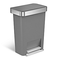 Simplehuman® 45 Liter Plastic Rectangular Step Trash Can With Liner Pocket