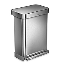 image of simplehuman® 55-Liter Rectangular Step Trash Can with Liner Pocket