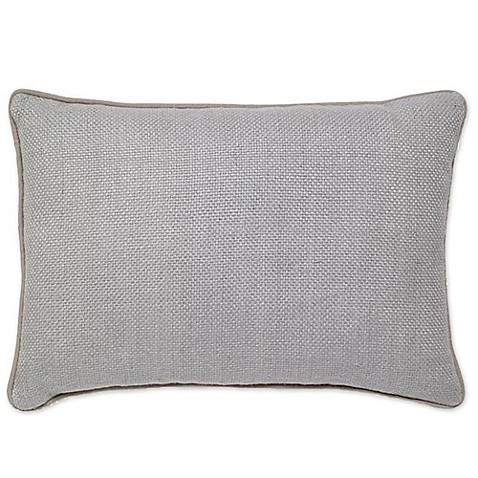 Buy Aura Basket Weave Oblong Throw Pillow in Ice Blue from Bed Bath & Beyond