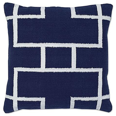 Outdoor Throw Pillows Kmart : Aura Woven Rectangles 20-Inch Square Throw Pillow - Bed Bath & Beyond