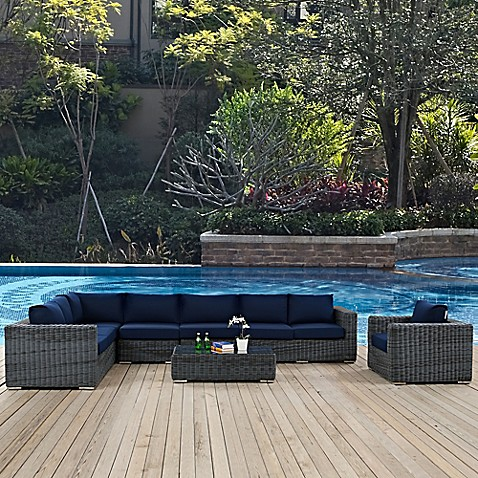 Modway Summon Outdoor Wicker Furniture Collection In Sunbrellau0026reg; ...