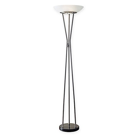 Adessor gemma torchiere floor lamp bed bath beyond for Adesso remote control torchiere floor lamp