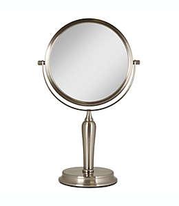Espejo de tocador Anaheim®, giratorio doble en níquel cepillado