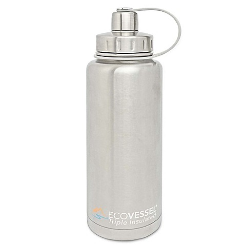 Eco Vessel® BOULDER 32 oz. Insulated Stainless Steel Water Bottle in Silver