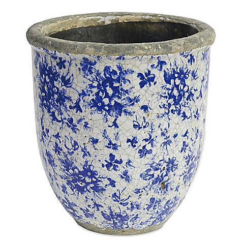 a b home floral round ceramic indoor outdoor 9 inch. Black Bedroom Furniture Sets. Home Design Ideas
