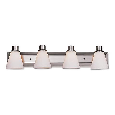 Bel air roanoke 4 light bath bar light fixture bed bath for Bathroom light bar fixtures