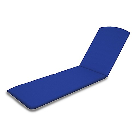Chaise lounge 77 inch x 21 inch cushion in sunbrella for Blue chaise cushions