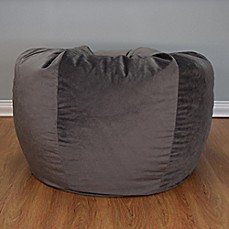 image of extra large washed velvet bean bag chair beanbags sphere chairs furniture dorm
