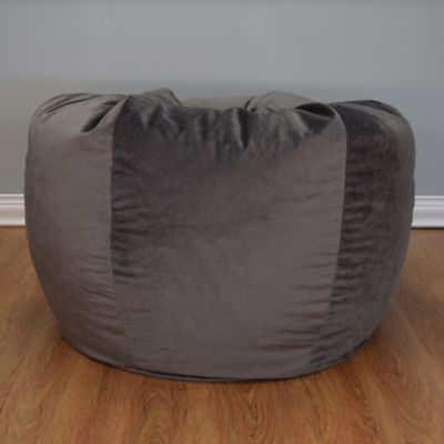 image of Extra Large Washed Velvet Bean Bag Chair