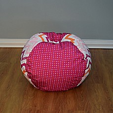 image of medium bean bag chair in multicolor dotted chevron beanbags sphere chairs furniture dorm