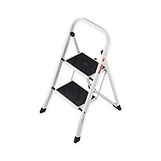 image of hailo 2step steel k20 step stool in white - Step Stool