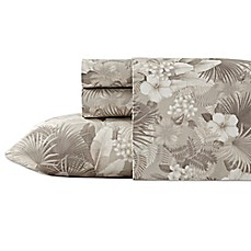 image of Tommy Bahama® Hibiscus Haven Sheet Set in Grey