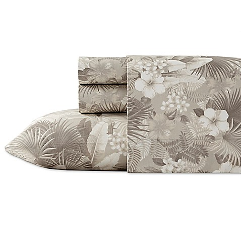 Tommy bahama hibiscus haven sheet set in grey bed bath beyond tommy bahamareg hibiscus haven sheet set gumiabroncs Image collections