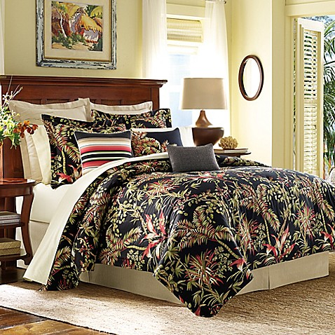 Tommy bahama jungle drive comforter set in black bed bath beyond tommy bahamareg jungle drive comforter set in black gumiabroncs Gallery