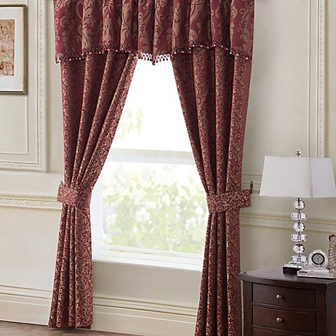 Waterford linens athena window treatments bed bath beyond for Linen shades window treatments