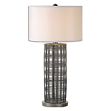 image of Uttermost Engel Table Lamp in Bronze with Fabric Shade