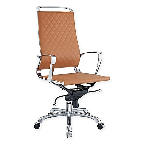 buy modway vibe highback leather office chair in tan from
