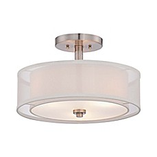image of Minka Lavery Parson Studio 3-Light Semi-Flush Mount Pendant