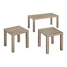 Image Of Walker 3 Pack Wood Coffee Table Set In Black