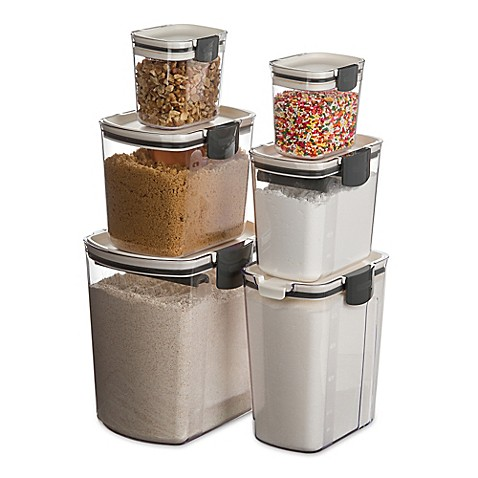 kitchen storage canisters progressive prokeeper 6 set bed bath amp beyond 13810