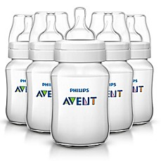 image of Philips Avent 9 oz. Anti-Colic 5-Pack Bottles in Clear