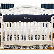 image of Liz And Roo Crib Rail Guard in Navy/White