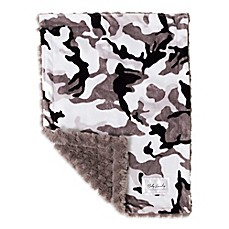 image of Baby Laundry Minky Camo/Tile Blanket in Grey