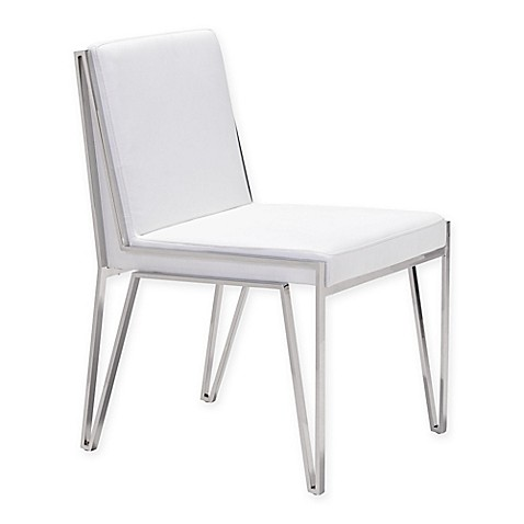 Zuou0026reg; Kylo Stainless Steel Dining Chair in White (Set ...  sc 1 st  Bed Bath u0026 Beyond & Zuo® Kylo Stainless Steel Dining Chair (Set of 2) - Bed Bath u0026 Beyond