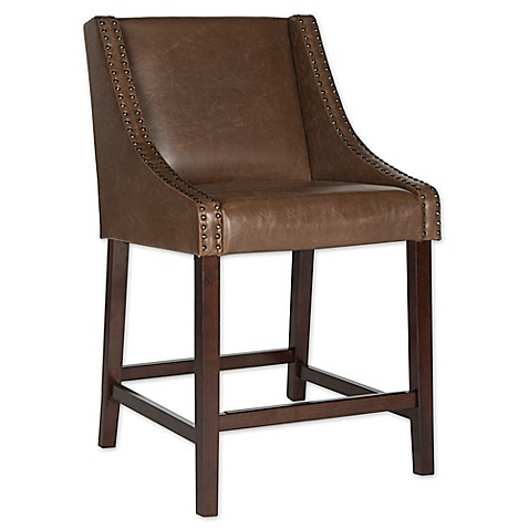 Buy Safavieh Dylan Counter Stool In Brown From Bed Bath