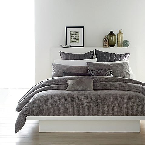 dkny sketch duvet cover set in charcoal