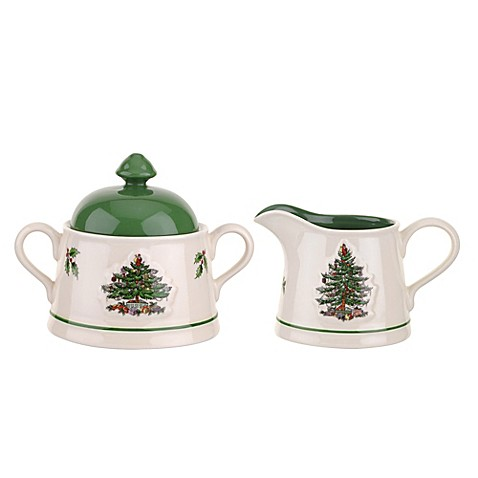 Spode Christmas Tree Embossed Sugar And Creamer Bed Bath Beyond