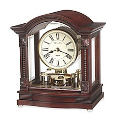 image of Bulova Sebastian Table Clock in Walnut