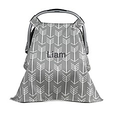 image of Liz and Roo Woodland Car Seat Cover in Grey/White