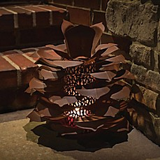 image of Desert Steel Pine Cone Luminary