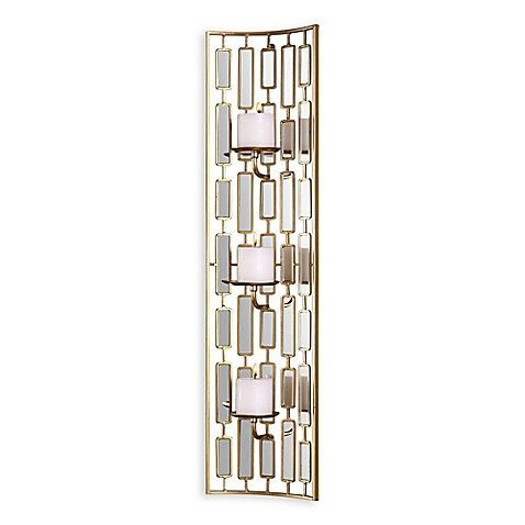 Uttermost Loire 3 Candle Wall Sconce With Candles Bed