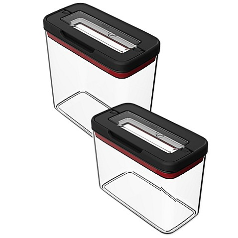 T Fal Rectangular Food Storage Container In Black Clear