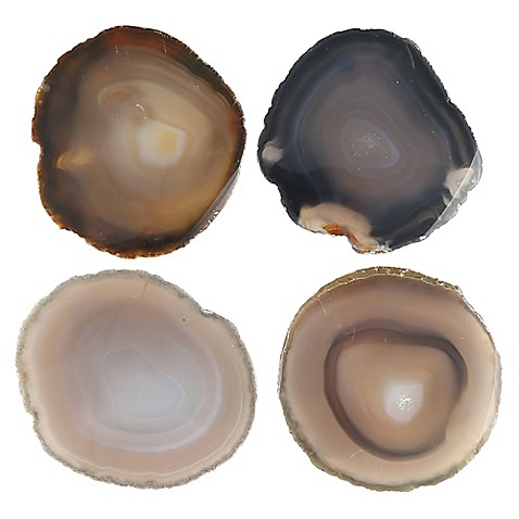 thirstystone neutral agate coasters set of 4 bed bath beyond. Black Bedroom Furniture Sets. Home Design Ideas