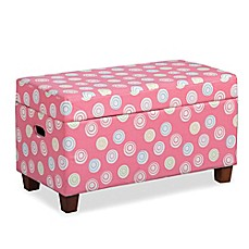 image of HomePop Juvenile Storage Bench in Pink